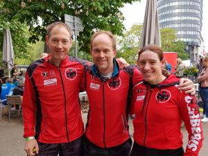 Sascha, Maurice en Indra in Heilbronn